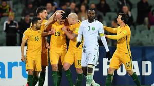 <W杯アジア最終予選B組>オーストラリアがサウジアラビアとの接戦を制す…日本は得失点差で首位キープ