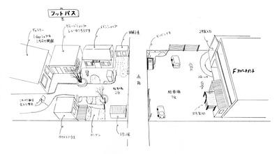 Fアパートメント・フットパス敷地案内図