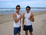 ビーチで二人で