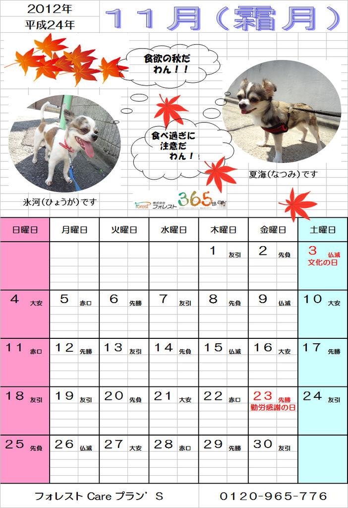 プランズ通信11月カレンダーJPEG