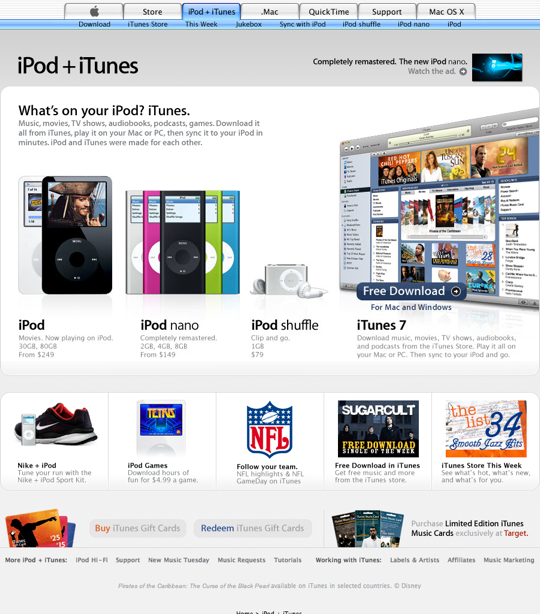 Apple - iPod + iTunes