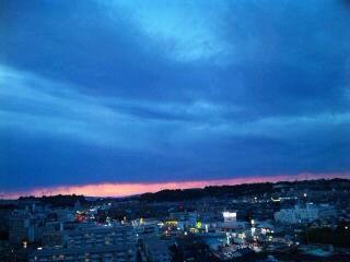 青の夕暮れ