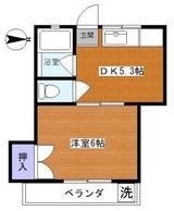 豪徳寺1DKアパート205間取