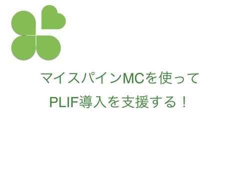 マイスパインMCを使ってPLIF導入を支援する!