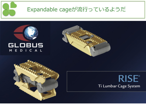 Expandable cage、RIZE®はフットプリントが豊富なのが魅力のひとつ
