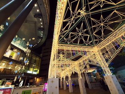 クリスマスイルミネーション一番乗り(阿倍野Hoop)