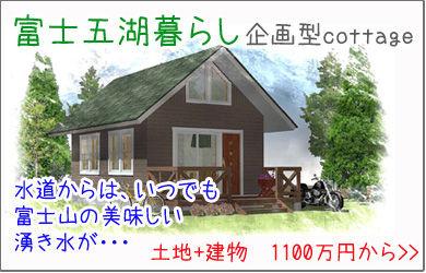 おいしい水 きれいな空気 夏の避暑に 富士五湖の企画型別荘
