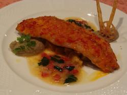 夏のランチ魚料理