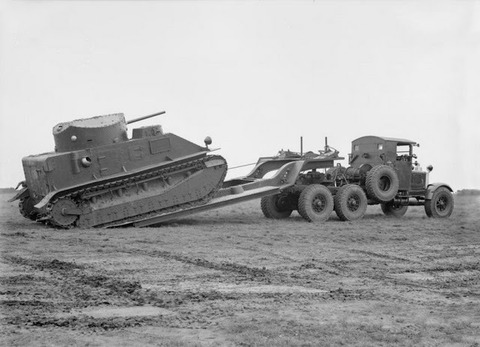 Scammell early with Medium Tank Mk II