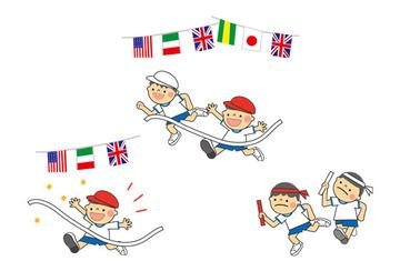 free-illustration-undoukai-boys