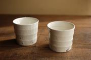 粉引ボーダー 焼酎カップ1