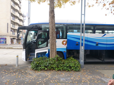 バス来ました!