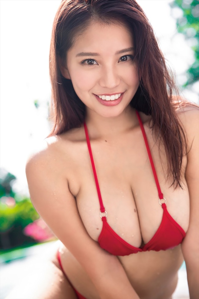 久松かおり Hカップ グラビア画像 (1)
