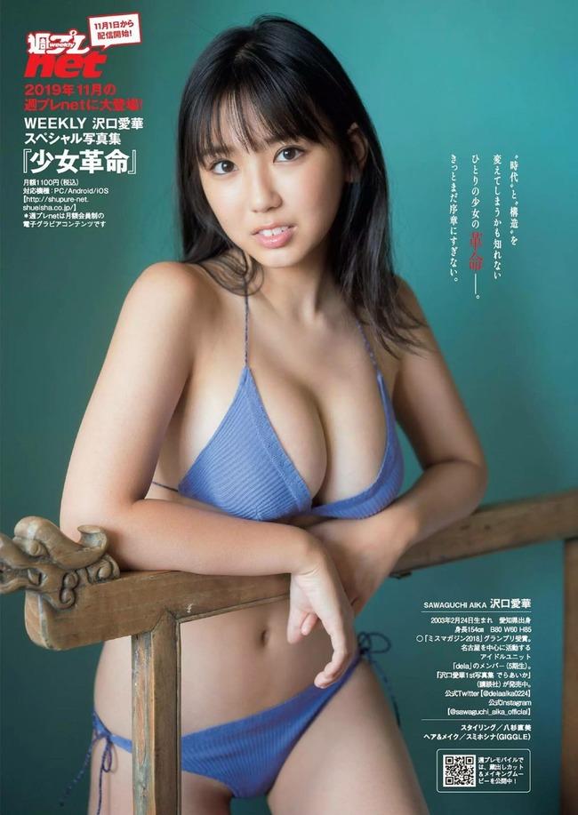 沢口愛華 巨乳 グラビア (1)