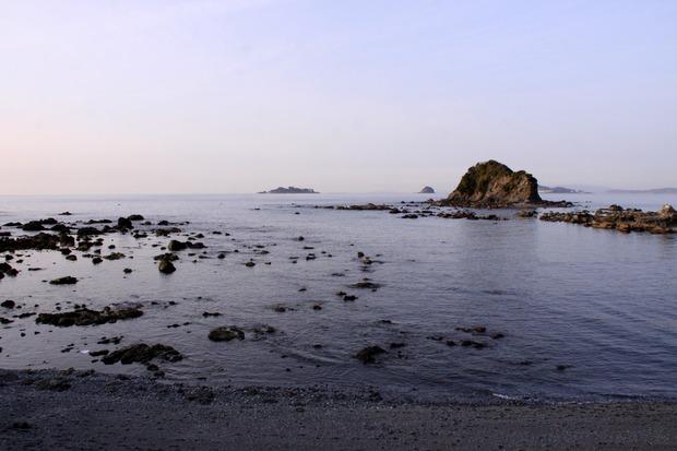 軍艦島(端島)の見える丘