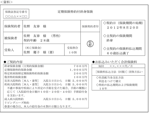 FP3級実技平成26年1月問8