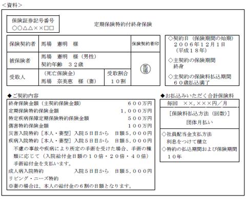 FP3級実技 平成26年9月問7