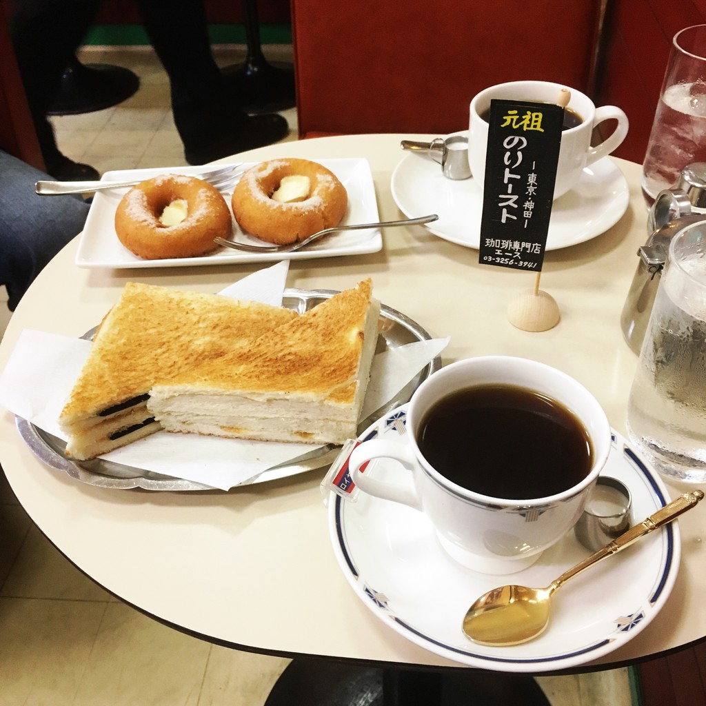 神田の「珈琲専門店 エース」で、元祖のりトーストを食べてみた