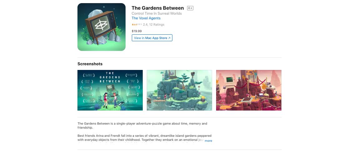 Apple Design Awards 2019_The Gardens Between