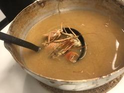くるまえびの味噌汁