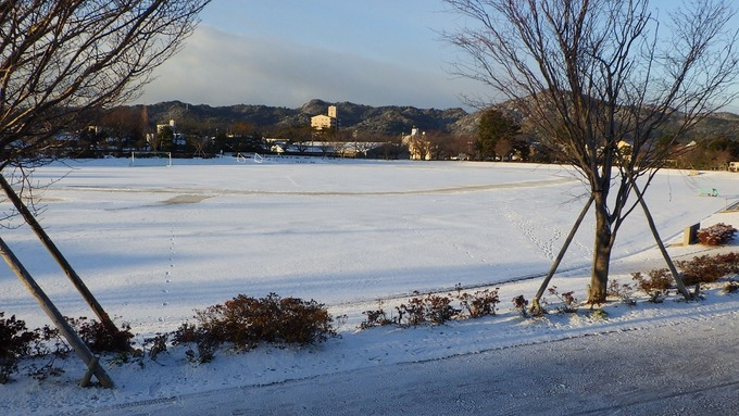 雪のグランド