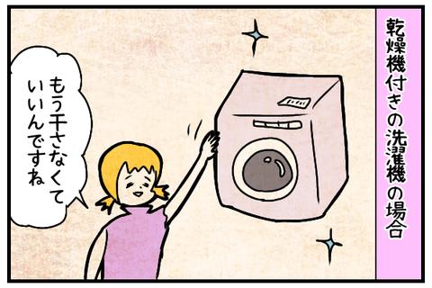 乾燥機付きの洗濯機も導入。