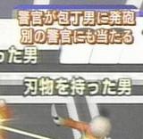 画像:警察が発砲して反射して・・・ [衝撃]