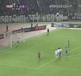 動画:サッカー -変形PKキック- [おもしろ]