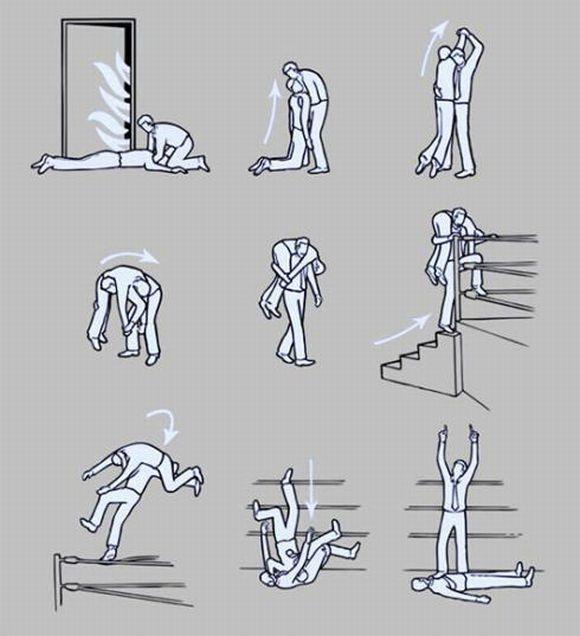 画像:火事現場で倒れている人を発見した時の対処法 [爆笑]