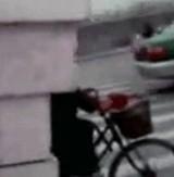 動画:積載量超過し過ぎな自転車の男 [おもしろ]