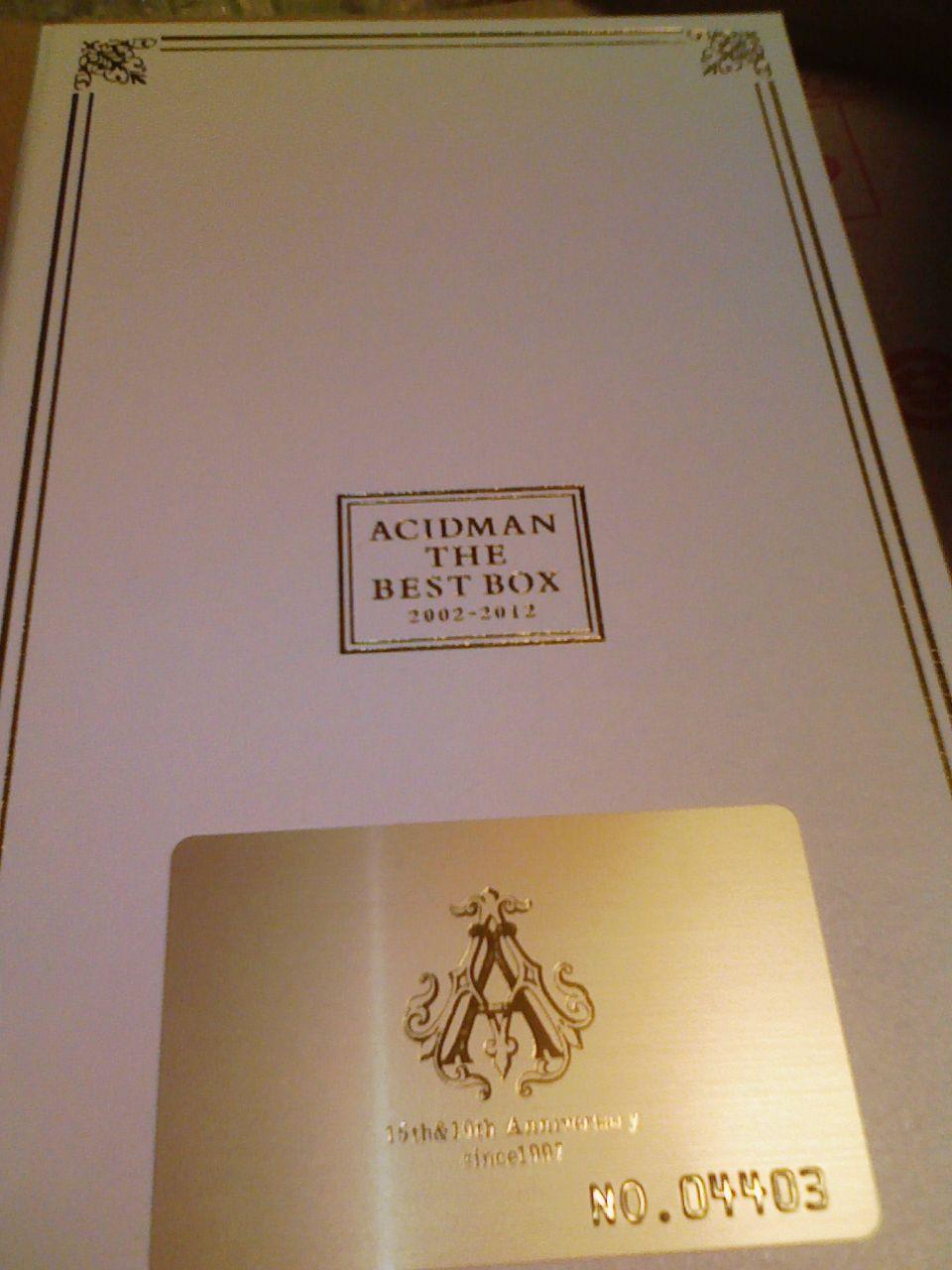 ACIDMAN THE BEST BOX 2002-2012...