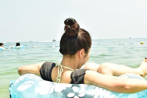 琵琶湖 淡水浴 夏 湖