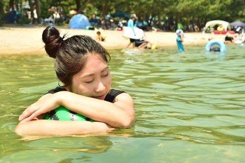 琵琶湖 淡水浴 リラックス
