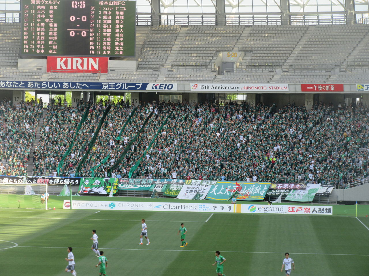 対 松本 v 東京
