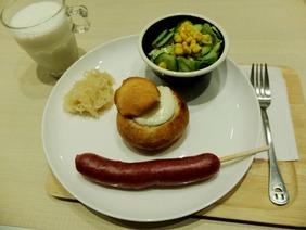 パンシチュープレート+牛乳(800円+200円)