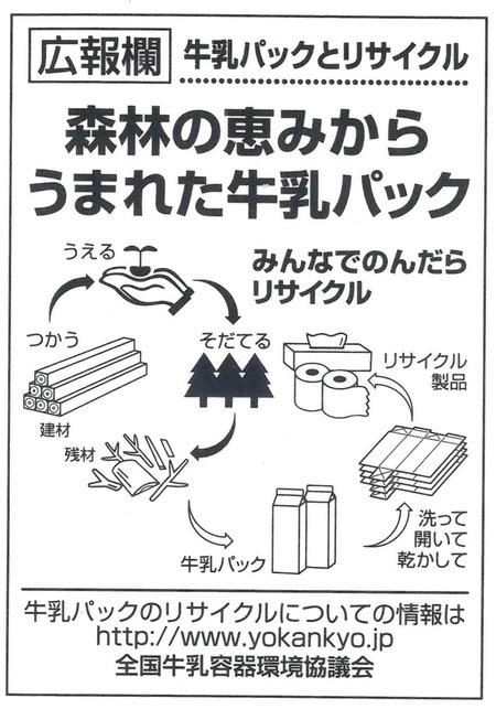 牛乳パックリサイクル