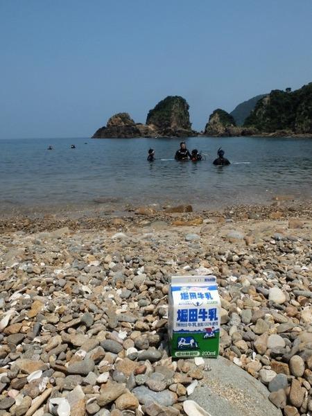 天草の海で堀田牛乳を撮ってみた。