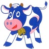 ホクノー牛乳の牛ちゃん