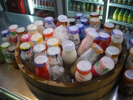 美味しそうな氷牛乳