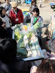 江戸東京野菜コンシェルジュの八幡さんがひとつずつ説明