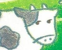 ジト目?な牛さん