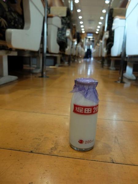 特急A列車で行こうで堀田牛乳を撮ってみた。