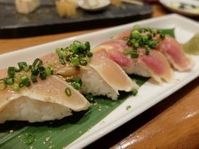 鶏たたきのお寿司