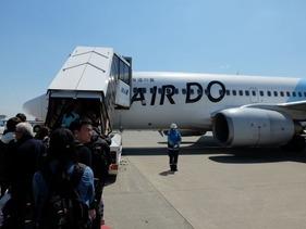 羽田でエアドゥ065便に乗り換え