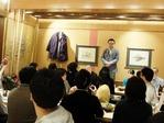 中田社長のごあいさつで懇親会が始まりました。