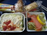 機内食チキン