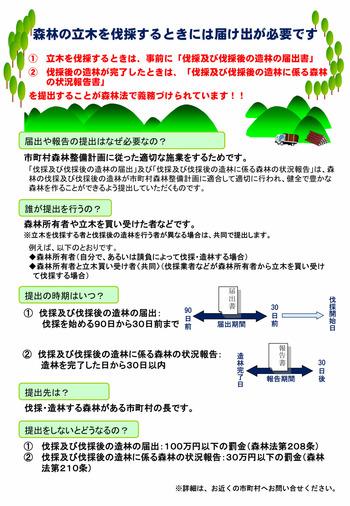 森林伐採届出