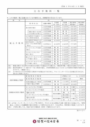 須賀川信用金庫 振込手数料