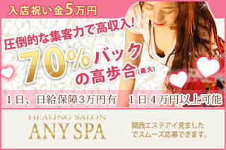 ANY SPA(エニースパ神戸店)求人