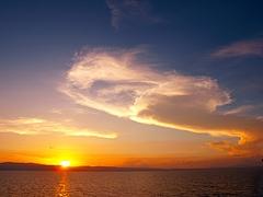 鹿児島湾の夕日